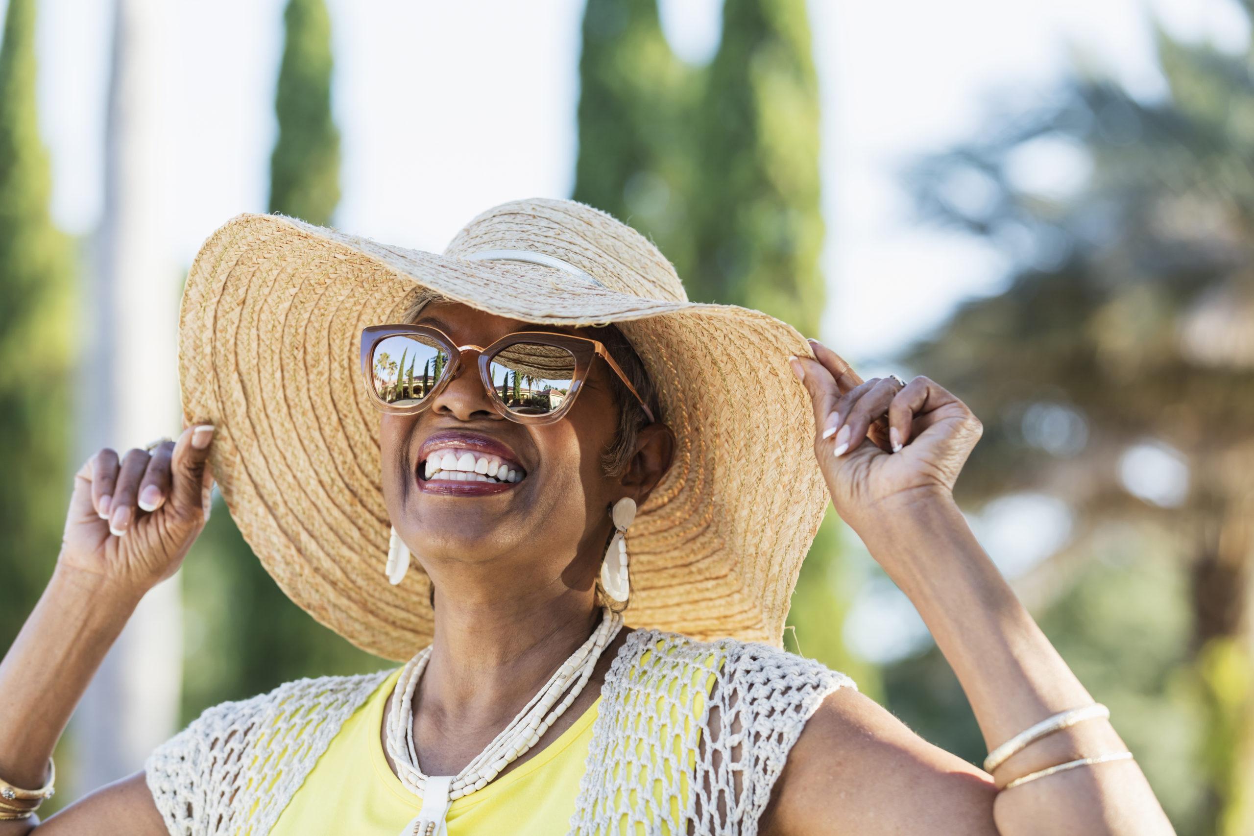 Beautiful Women in a Sun Hat